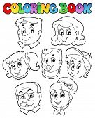 Coloring book family collection 3 - vector illustration.