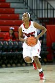 NEW YORK-NOV 3: St. John's Red Storm guard Eugeneia McPherson (22) looks to pass the ball against th