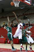 NEW YORK-NOV 3: St. John's Red Storm guard Shenneika Smith (35) goes up for a basket against Farming