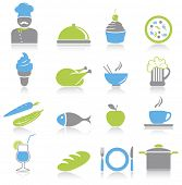 Kitchen and food icons set.Vector illustration