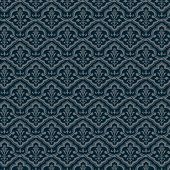 Vintage floral background. Flourishl pattern. Old style wallpaper. Vector.