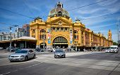 MELBOURNE, AUSTRALIA - OCTOBER 29: Iconic Flinders Street Station  was completed in 1910 and is used