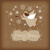 picture of angel-trumpet  - Christmas angel - JPG