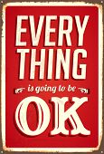 Vintage Metal Sign - alles OK - JPG-Version