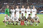 CLUJ-NAPOCA, ROMANIA - OCTOBER 2: Team photo of Manchester United before UEFA Champions League match