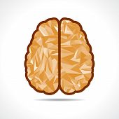 picture of brainwashing  - Abstract triangle brain icon  - JPG