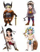 stock photo of viking  - Warriors from various culture set 2 consists of Apache  - JPG