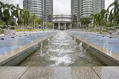 Water Fountain At Kuala Lumpur City Center