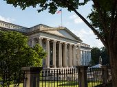 picture of treasury  - Treasury Building in Washington D - JPG