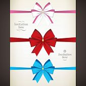 Set of colored bow for your invitations