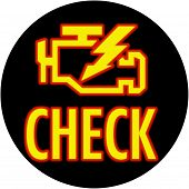 Check Engine Light Round