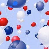Patriotic Balloon Background