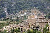 stock photo of chopin  - A View of Valldemossa in Mallorca Spain  - JPG