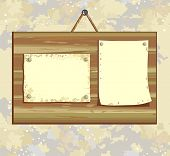 placa de madeira