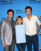 LOS ANGELES - AUG 4:  Brandon Barash, Kirsten Storms, Jason Thompson arrives at the ABC Summer 2013 TCA Party at the Beverly Hilton Hotel on August 4, 2013 in Beverly Hills, CA