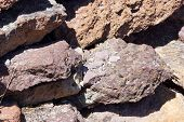 Details Of Volcanic Tufa Rhyolite Rocks