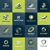 Set of icons for business and technology