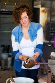 Woman Glassblower