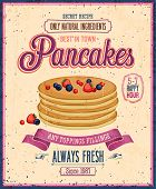 pic of maple syrup  - Vintage Pancakes Poster - JPG