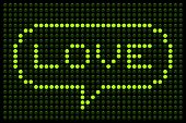 Love Message On Led Dot Matrix Display