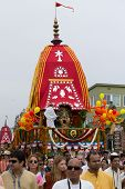 The Chariot passing on Ocean Front Walk street in the 37th Annual Festival of the Chariots