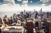 stock photo of skyscrapers  - Chicago - JPG