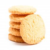 Milk Cookies Isolated On White Background