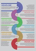 Abstract Infographics Options Template. Workflow Layout