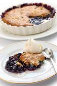 blueberry cobbler, american dessert