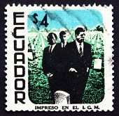 Postage Stamp Ecuador 1970 M. L. King, John And Robert Kennedy