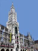 Town Hall of Munich. Marienplatz.
