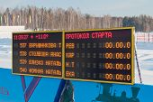 Electronic Scoreboard Of Traditional Mass Ski Competitions