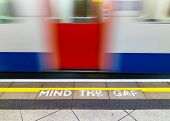 picture of gap  - Mind the Gap warning in the London underground - JPG