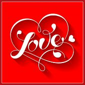 Lettering LOVE. For themes like love, valentine's day, holidays. Vector illustration.