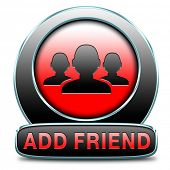 Add as friend join online community through networking