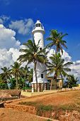 pictorial view of light house - Galle fort .Sri Lanka