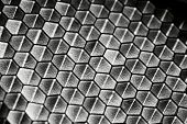 Honeycomb pattern with shady lighting