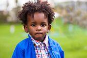 Outdoor Portrait Of A Little African American Boy - Black - Children - People