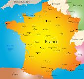 vector color map of France country