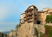 The Casas Colgadas (  Hanging Houses). Hanging Houses in the medieval town of Cuenca, in Castilla La Mancha, Spain.