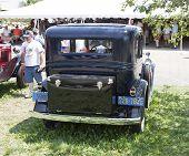 1931 Chevy Black Special Sedan Rear View