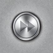 Vector round metal fast forward knob
