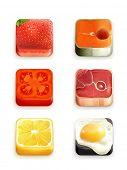 Food app icons, bitmap copy