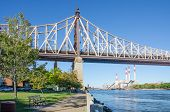 Queensboro bridge and Electric Power Plant, Queens, - View from Roosevelt Island, New York