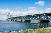 Rockaway, Queens, NYC, USA: Marine Parkway-Gil Hodges Memorial Bridge as seen from Rockaway