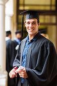 handsome university graduate on graduation day