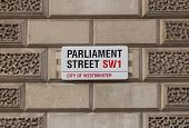 Sign for Parliament Street in Central London