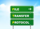 3D File Transfer Protocol Road Sign
