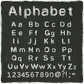 alphabet old black board