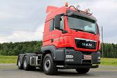Red MAN TGS 26.540 Heavy Truck Tractor